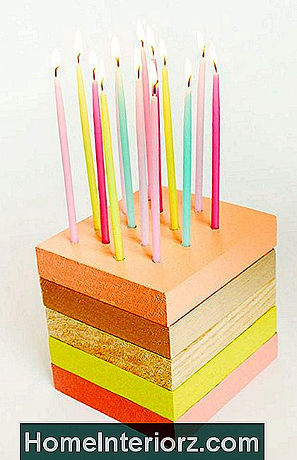 DIY Wooden Birthday Cake