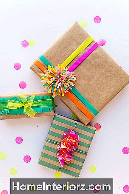 DIY Fun Kraft Paper Gift Wrap