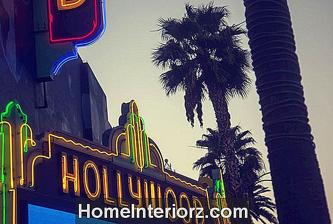 Hollywood neonskylt, Los Angeles, Kalifornien, USA