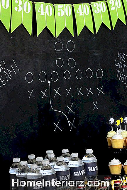 DIY Football Field Banner