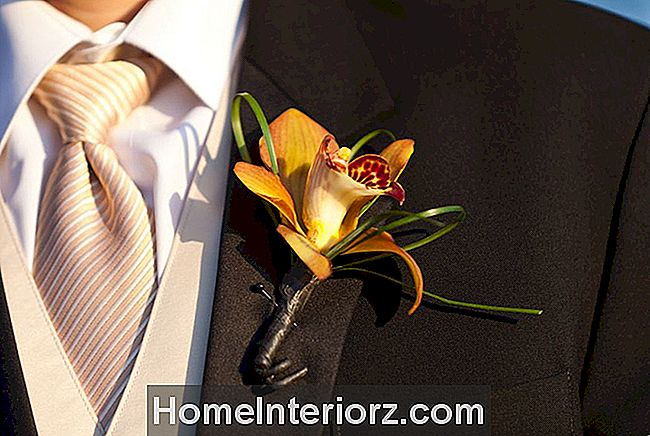 Orange Orchid Boutonniere