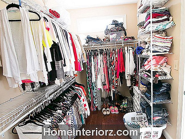 Messy Walk-In Closet