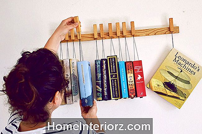 Wall Mounted Hanging Book Rack