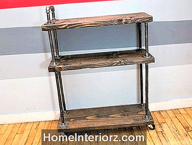 Industrial Style Wood Bar Cart