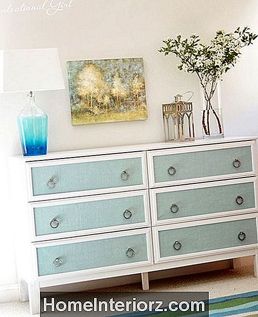 DIY Textured Panels Dresser Makeover