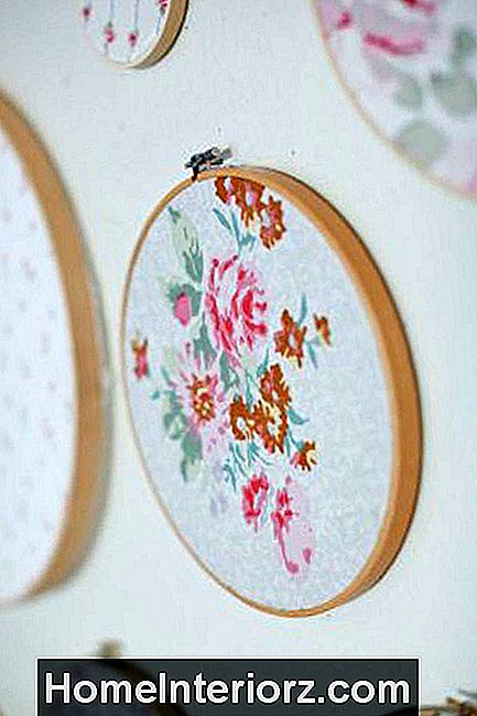 DIY, Shabby Chic Hoop Art