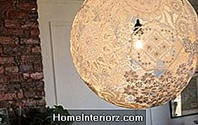DIY Lace Doily Lampa