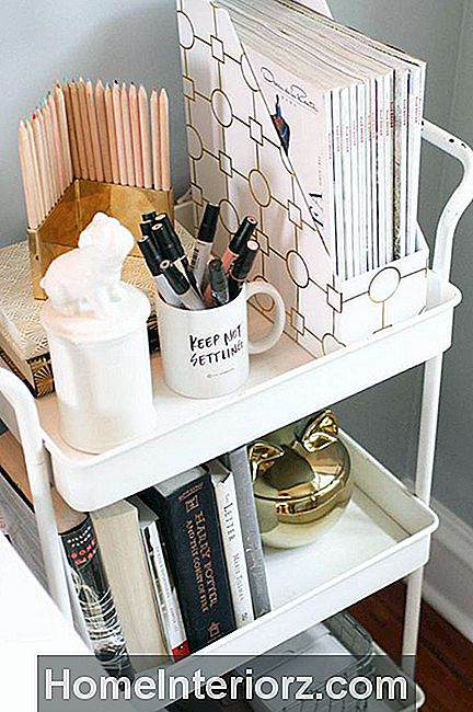upcycled bar cart dorm inredning