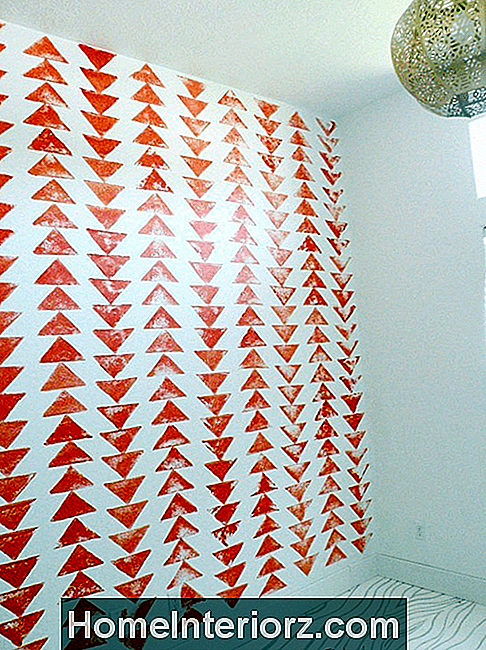 DIY Tribal Stamped Accent Wall