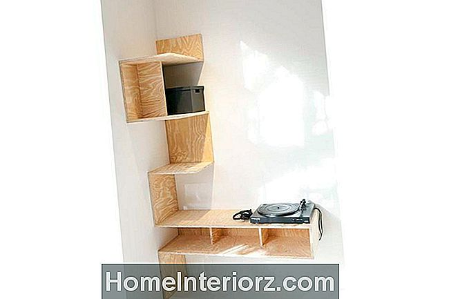 DIY Plywood Corner Shelving Unit