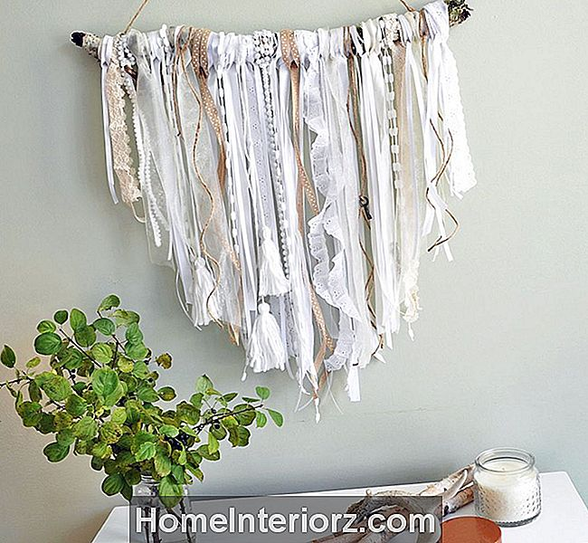 DIY Shabby Chic Band Wandbehang