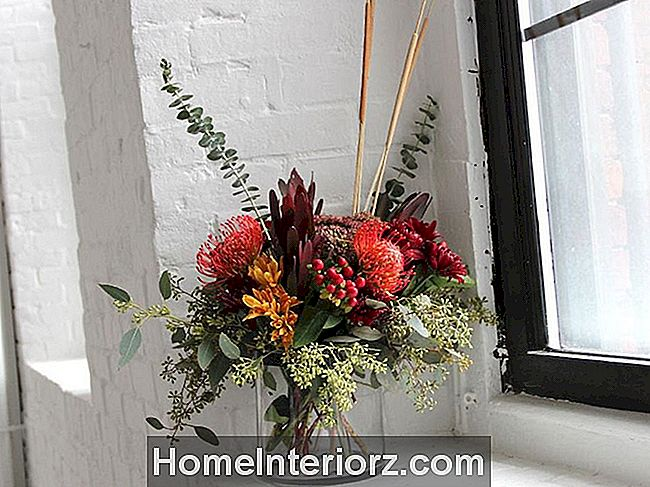 DIY blommigt centerpiece