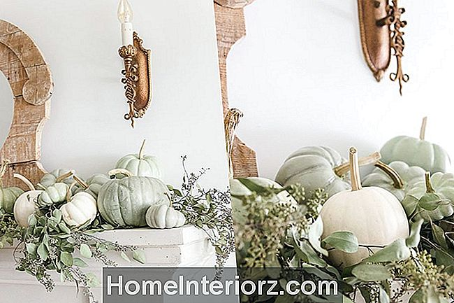 heirloom-pumpa-fall-Mantel-grön