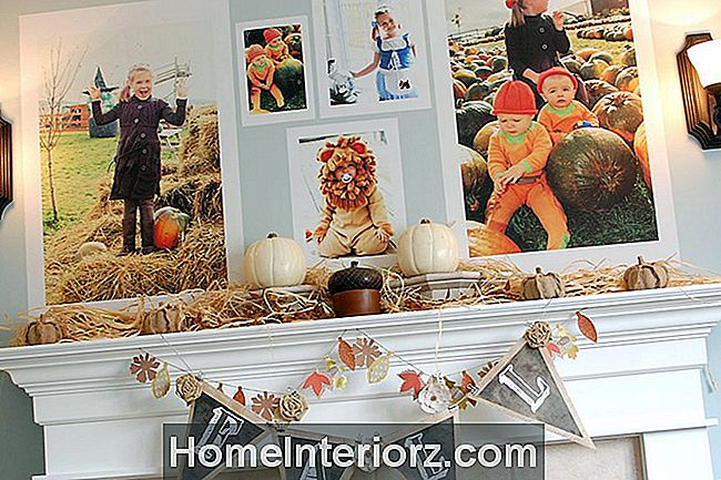 Familje Fall-Pumpa-patch-foton-Mantel