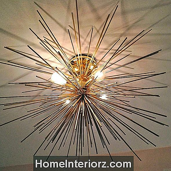 Brass Urchin Light Fixture