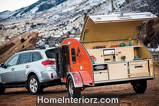En Timberleaf Tear Drop Camper trailer