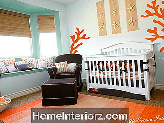 Orange & Aqua Beach Nursery