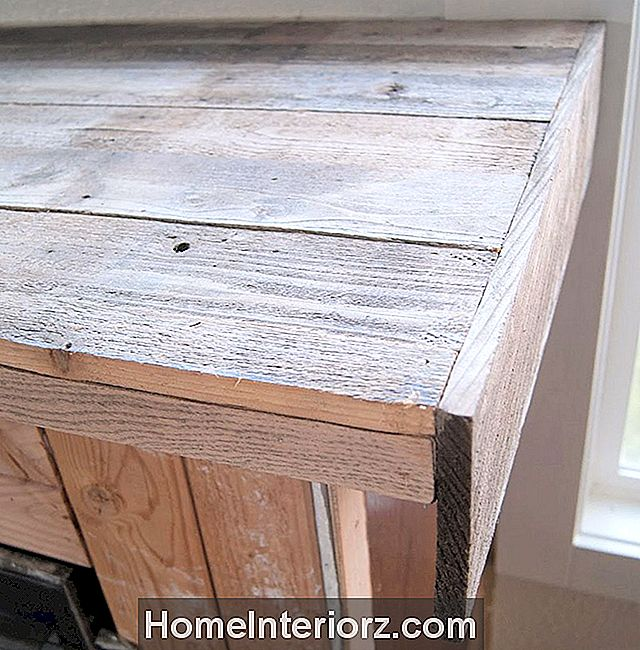 Reclaimed Wood Fireplace Top