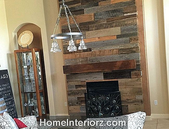 Reclaimed Wood Fireplace in Florida