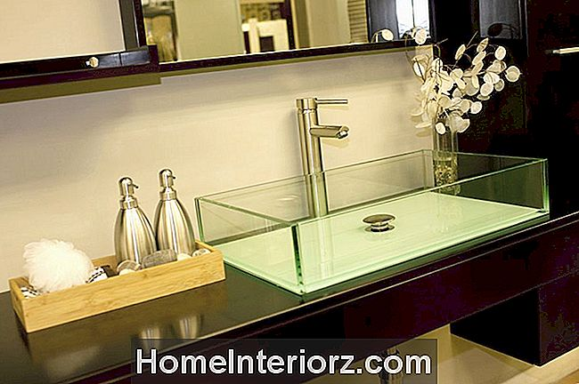 Dark Wood Cantilever Bathroom Counter 126171915