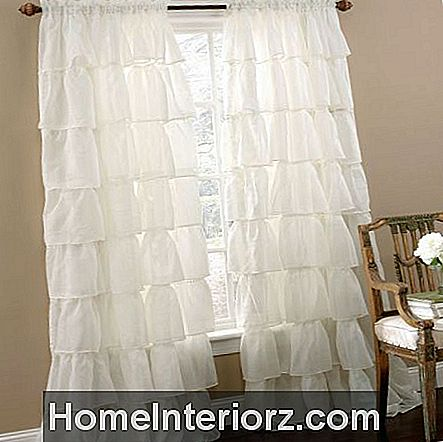 Brylane Home Gypsy Ruffled Voile Rod-Pocket Panel