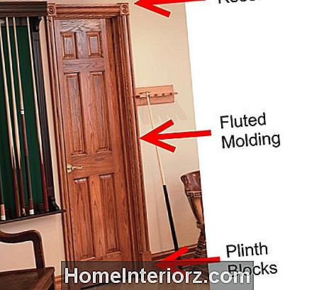 Door Trim Ideas - Rosette Plinth Casing