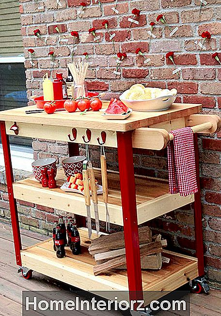 DIY Rolling Grill Cart