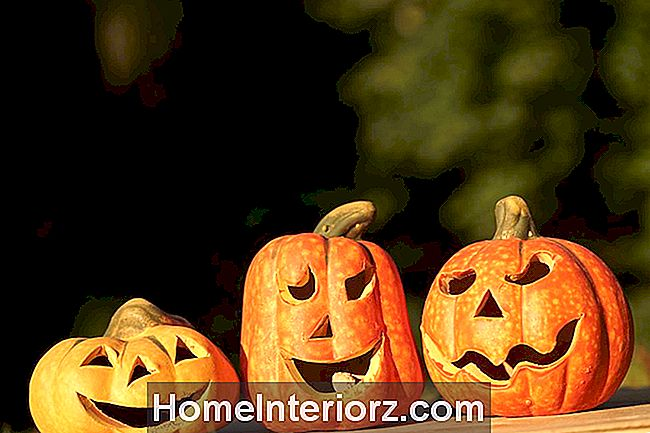 Jack O Lanterns On Wood