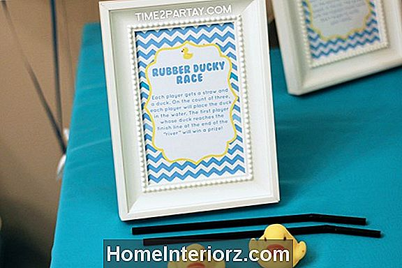Kids 'Birthday Party Games: Blås Duck Down the River