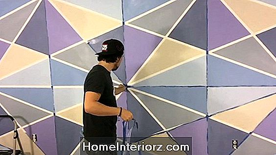 DIY Accent Wall: 3D Geometric Wall Art